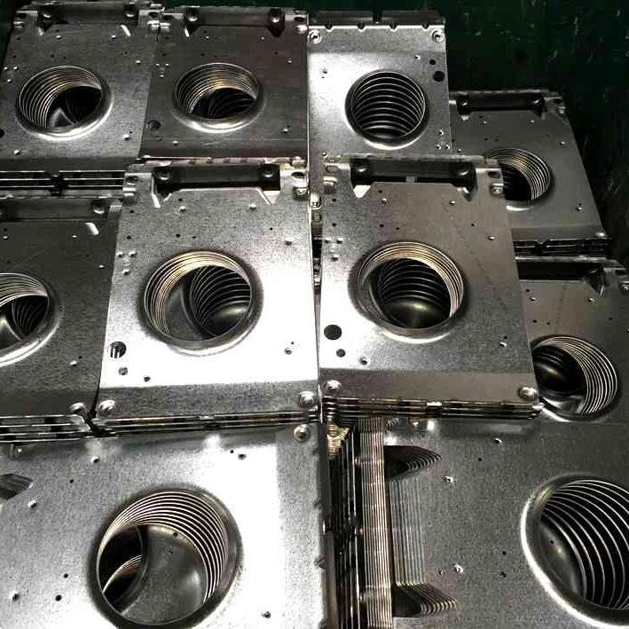 metal components after fabricating press and stamp services